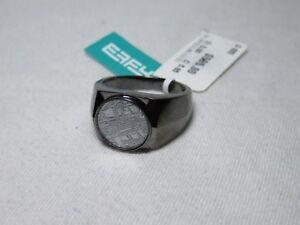 EFFY Men's Sterling Silver Black Rhodium Meteorite Ring