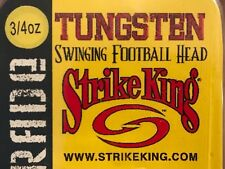 STRIKE KING Tungsten Swinging Football Head (3/4 oz) Black 1 pack Free Shipping