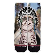 Function - Indian Cat Printed Sock novelty socks sublimation socks funny socks