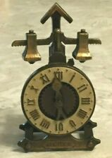 "Vintage English Time Clock Metal Pencil Sharpener ""Play Me"" Made in Spain MCDXL"