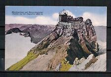 Ansichtskarte - Münchnerhaus mit Meteorologischer Station a. d. Zugspitze - 1927
