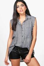 Camisa de mujer de color principal multicolor sin mangas