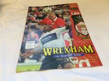 Wrexham v Cardiff City   FAW Premier Cup April  1999
