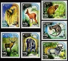 CAMBODGE Kampuchea N°505/511** Animaux sauvages 1984, CAMBODIA Sc#497-503 MNH