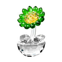 Crystal Sunflower Paperweight Figurine Glass Ornament Collectible Lady Gift