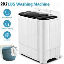 20.7LBS Automatic Compact Washing Machine Twin Tub w/ Drain Pump Spiner Dryer US