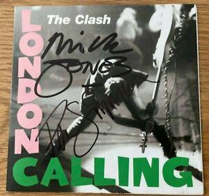 THE CLASH  -  LONDON CALLING  - SIGNED  CD COVER  by JONES + SIMONON  -  UACC RD