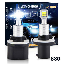 For Pontiac Bonneville 1992-2003 880 80W Cree LED Fog Light White 1500LM Bulbs