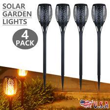 4 Pack Solar LED Flickering Landscape Lights Dancing Flame Torch Garden Lamps US