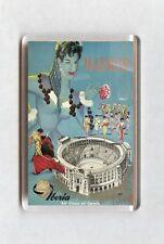 Vintage Air Travel Poster Fridge Magnet - Madrid. Iberia Air Lines of Spain