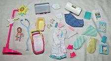 Barbie baby lot fits pregnant Midge blankets doctor outfit scale nursery pieces