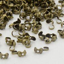 LOT de 100 CACHE NOEUDS EMBOUTS 9mm bronze SANS NICKEL perles création bijoux