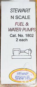 Stewart N Scale #1802 Fuel & Water Pumps (White Metal) 1:160th Scale