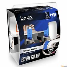 2x LUNEX H8 PLASMA XENON Headlight Halogen Bulbs 12V 35W PGJ19-1 5000K Hard Case