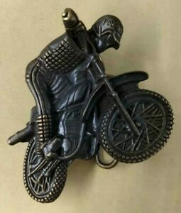 Genuine USA Polo PRL Motor Cycle Rider 100% Brass Carved Belt Buckle Accessory