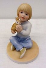 Frances Hook For A Mothers Love Boy Holding Rabbit 1986 Bunny Roman Figurine
