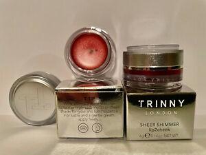 2 X Trinny London - Sheer Shimmer Lip2cheek. Two Shade Emily ,New In Box!!!