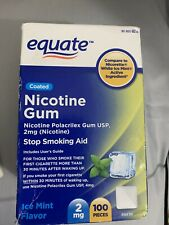 Equate Coated Nicotine Gum, Ice Meant Flavor-- 2mg,  100 Pieces