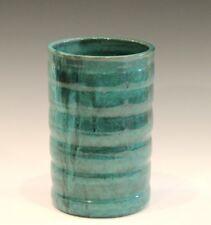 North Carolina Cole Malachite Folk Art Pottery Big Vintage NC Southern Vase