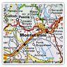 2 x Square Stickers 7.5 cm - Montecatini Terme Italy Italian Travel Map  #45771