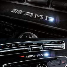 3D Exterior Interior Car Alloy Chrome Silver AMG Badge Sticker For Mercedes Benz