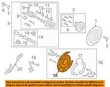 KIA OEM 2015 Sedona Rear Brake-Backing Plate Splash Dust Shield 58251A9000