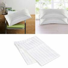 Cotton White Stripe Home&Hotel Standard Pillowcases Bedding Pillow Covers C B4B0