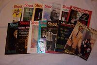 "Lot of 14 Vintage ""Sheet Music"" Magazine 1989-1998 Bob Hope Christmas MORE"
