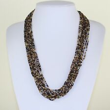 Brown Gold Colour Multi Strand Necklace Ethnic Maasai Masai Style MB12