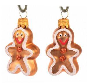 Novelty Glass Handmade Gingerbread Man Christmas Decoration Tree Ornament Bauble