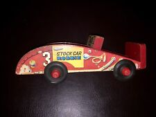 STOCK CAR ROBBIE Wood Pull Toy 1963 American Pre-School Brand RARE Pull Toy