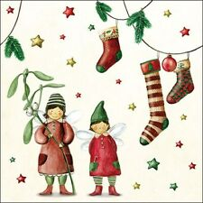 20 Paper Napkins, Christmas Fairies , 33x 33cm, 3-ply, luncheon size