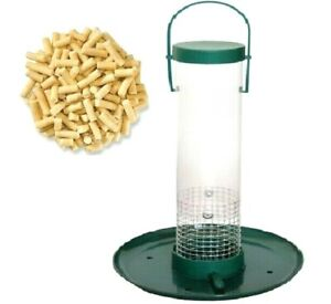 "SUET PELLET FEEDER - (12"" inch) - Wild Bird Tray Feeders Hanging Seed Holder bpl"
