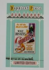 Disney Cinderella 70th Anniversary vintage movie poster custom fantasy pin #2