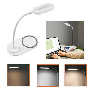 LED Desk Lamp Touch Charging Table Reading Light + Wireless Cell Phone Charging