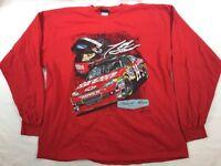 Nascar Tony Stewart Red Long Sleeve Tshirt 14 Office Depot Men's Size 2XL