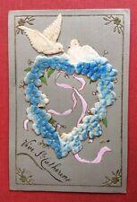 CPA. Vive Ste CATHERINE. Gaufrée Embossed. Relief Apparence Velours. Coeur.1908