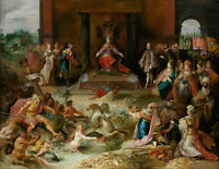 Allegory of the Abdication of Emperor Charles V in Brussels 75cm x 58.3cm Canvas
