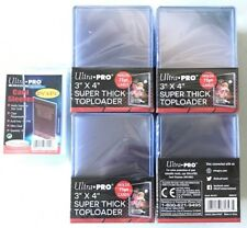 100 Ultra Pro 3x4 75pt Thick Toploader Card Holders & 100 Soft Sleeves