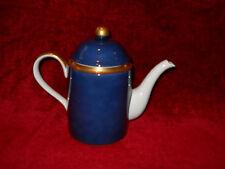 Fitz & Floyd Renaissance lapis blue Coffee pot