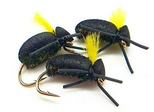 Yellow Tag Black Zig Bugs Size 10 (Set of 3) Fly Fishing flies Carp Bread