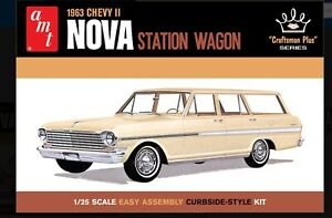 AMT 1202 1963 CHEVY II NOVA STATION WAGON CRAFTSMAN PLUS SERIES 1:25 Fs