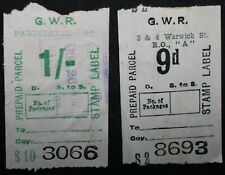 More details for g.w.r. prepaid parcel stamp labels   stamps   km coins