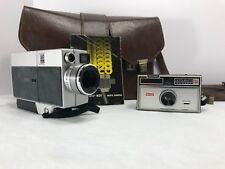 Vintage 1960's Kodak Instamatic M28 Movie Camera And 104 Box Camera With Case
