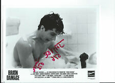 BRAIN DAMAGE 1988 BW ORIGINAL VINTAGE STILL PHOTO HORROR MONSTER BEEFCAKE BATH