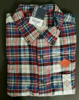 NWT St Johns Bay Men's Brushed Flannel Shirt Sz XL Polar Plaid Soft Flannel NEW