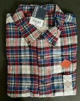 NWT St Johns Bay Men's Brushed Flannel Shirt Sz L Polar Plaid Soft Flannel NEW