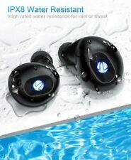 New listing iTeknic True Wireless Earbuds Ipx8 Bluetooth 5.0 Waterproof Earphones Black