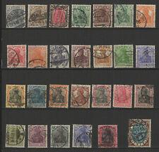 Allemagne 1905/20 Deutsches Reich 28 timbres oblitérés / T2502