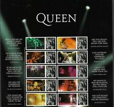 Queen 2020 Freddie Mercury-Royal Mail 10 x 1st class stamps plus tabs mnh